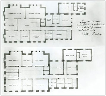 Original Government House floor plans from July, 1888. (Photo Credit: SAB R-P9.3)